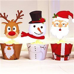 Party Ideas UK Christmas Cupcake Wrappers