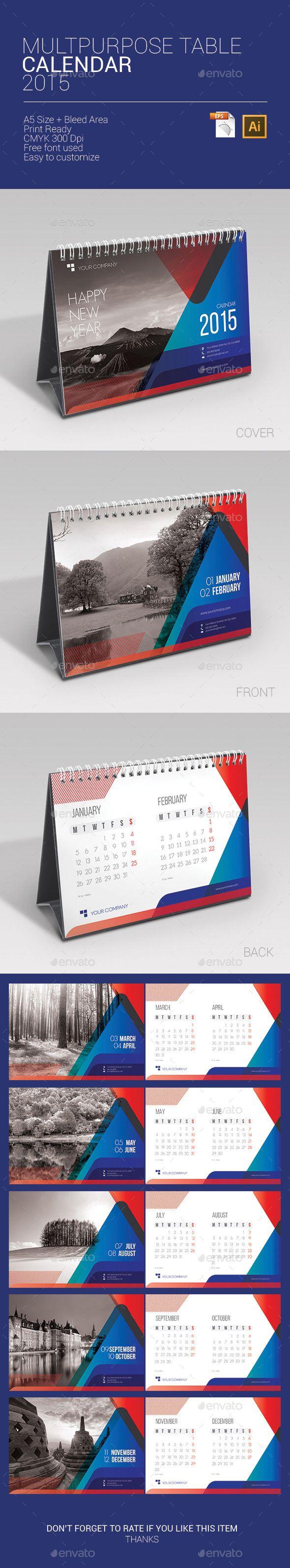 Multipurpose Table Calendar 2014 - Calendars Stationery