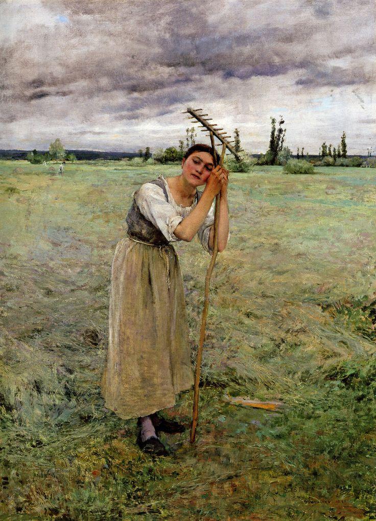 Jules Bastien Lepage - The Haymaker's Rest, 1881