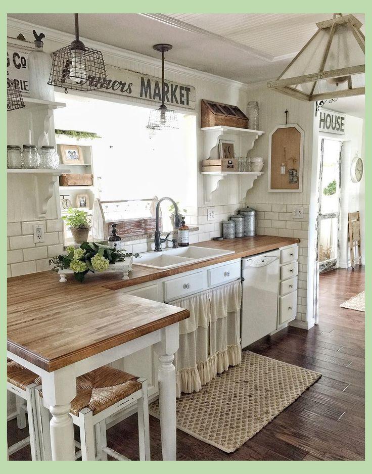 Vintage Farmhouse In 2020 Farmhouse Style Kitchen Modern Farmhouse Kitchens Kitchen Style
