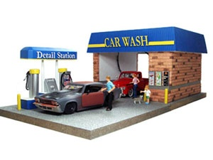 Car Wash Diorama For 124 Diecast Cars With 4 Family Figures By American Diorama