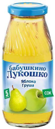 Сок Бабушкино Лукошко яблоко-груша, 0.2 л  — 33р. -------------- Детское питание «Бабушкино Лукошко» разработано с учетом передовых тенденций в области нутрициологии и полностью отвечает всем требованиям педиатрии. Изготовленное на основе натуральных продуктов, оно имеет оптимально сбалансированный состав, что позволяет получить не только вкусный, но и полезный продукт.  Яблоко — источник фруктовых кислот, витамина С и минеральных веществ (железа, цинка). Груша — это источник витаминов А, Р…