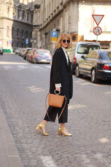 Get this look: http://lb.nu/look/8663553  More looks by Ana Vukosavljevic: http://lb.nu/anavukosavljevic  Items in this look:  Mango Bag, Kurt Geiger Shoes, Zaful Coat, Yoins Blouse, Asos Sunglasses   #beautystuffbyana