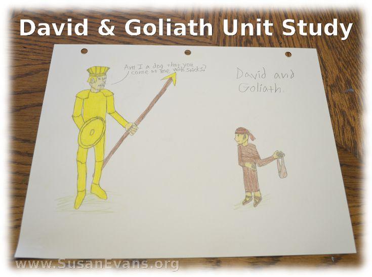 David and Goliath children's story - dltk-bible.com