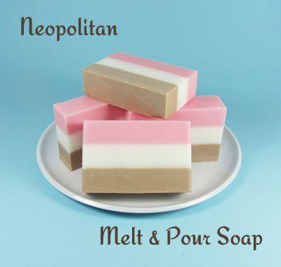 Neopolitan Ice Cream Melt & Pour Soap Loaf