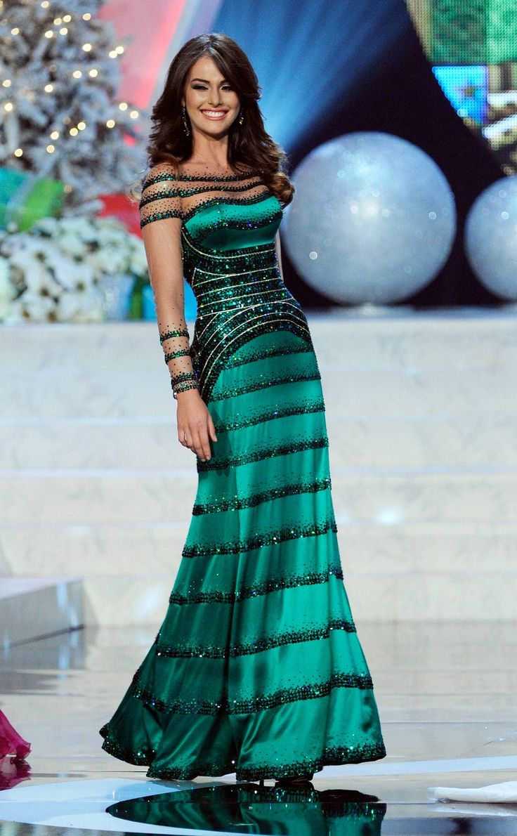 one of the Most Memorable Gowns From the Miss Universe Pageant (2012) -- this fit her like a glove!