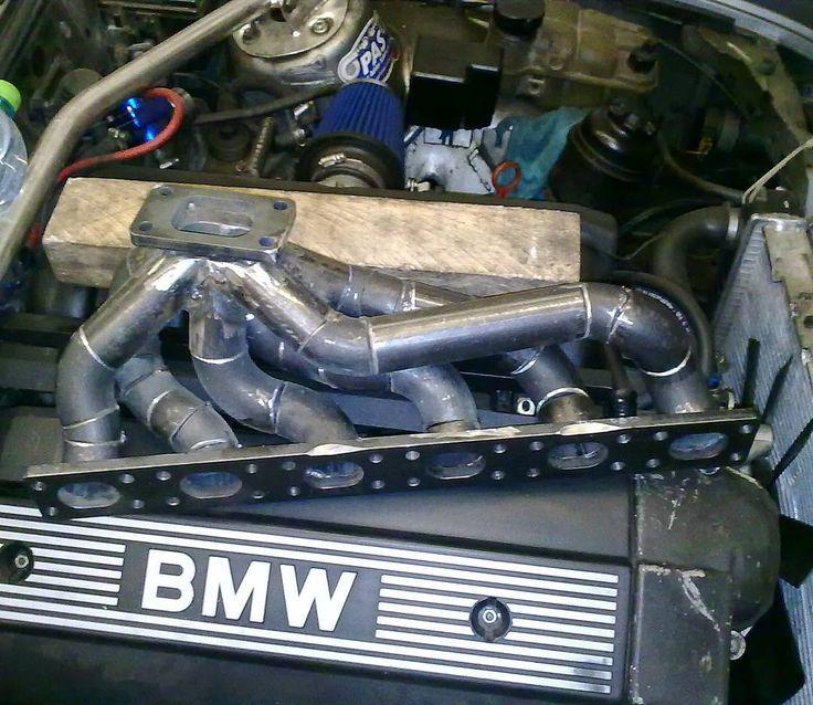 Exhaust turbo manifold for my e30 M52 turbo project #bmw #bmwe30 #e30turbo  #bmwe30turbo #m52turbo #m52b28 #328iturbo #boost #boosted #turboproject #turbobuild #turbocar #fabrication #welding #gt35 #drift #manifold #turbomanifold #headers #turboheaders