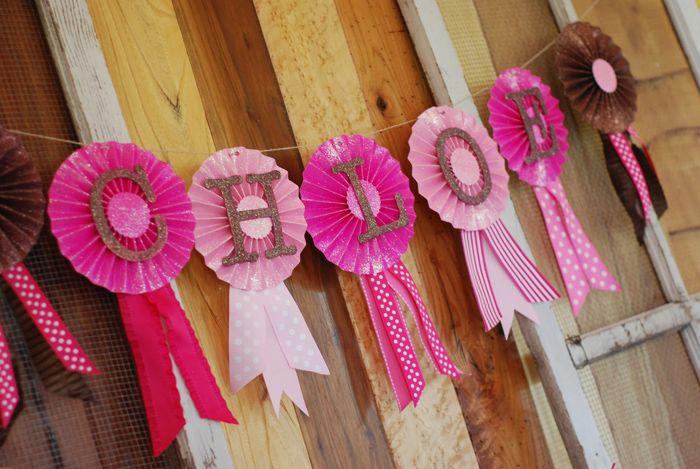 Cute banner idea! Cowgirl Princess Party via Kara's Party Ideas KarasPartyIdeas.com