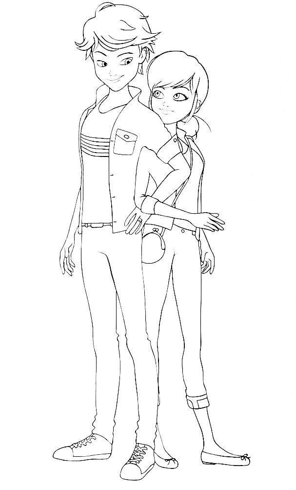 Miraculous Ladybug New Coloring Pages Marinette And Adrien Ladybug Coloring Page Miraculous Ladybug Wallpaper My Little Pony Coloring