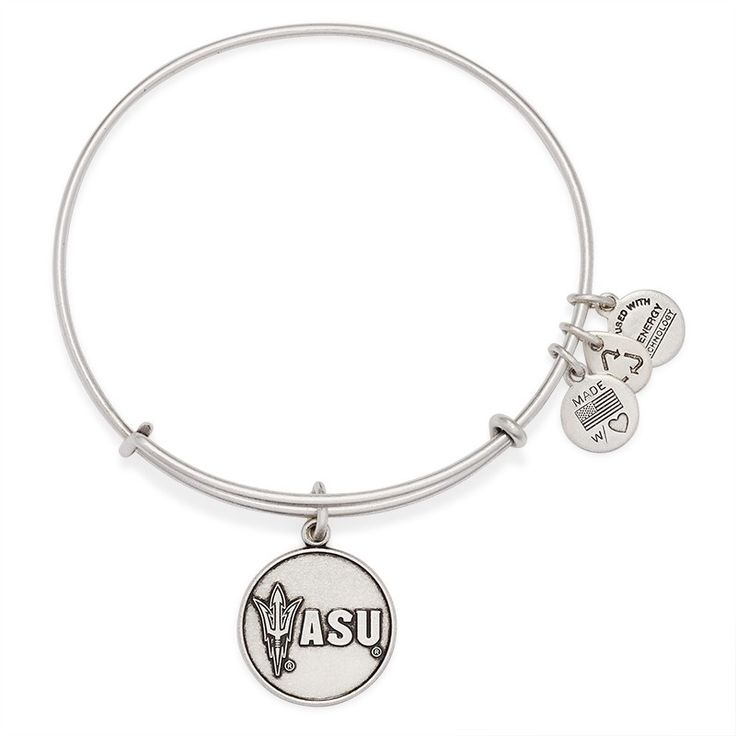 Arizona State University Logo Charm Bangle   Alex and Ani Literally love this so much!! Just want it in gold not silver!