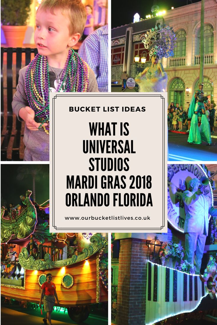 What is Universal Studios Mardi Gras 2018. Our review with tips on where to stand a bit all about what the Mardi Gras at Universal is all about in Orlando Florida #universalstudios #mardigras #Orlando #florida #travel #familytravel #parade