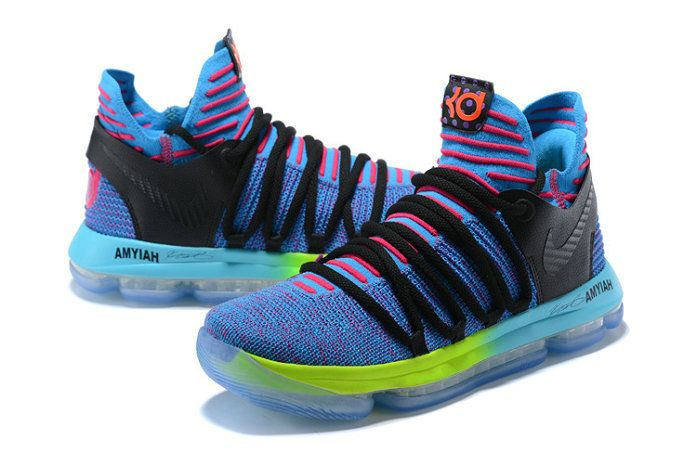 9a8e4d59d1e Nike Zoom KD 10 LMTD EP Mens Original Basketball Shoes Sky Blue Pink Black  Yellow White
