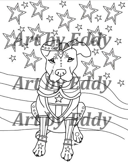 This Coloring Book Consists Of 15 Hand Drawn Images Beautiful Pitbulls For You To Color The File Is 3 High Quality PDF Files Each Containing