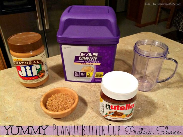 Yummy Peanut Butter Cup Protein Shake with EAS Complete Protein #ad #powerinprotein #cbias