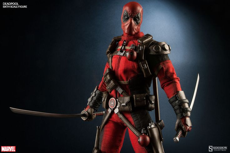Deadpool Sixth Scale Figure with Speech Bubbles