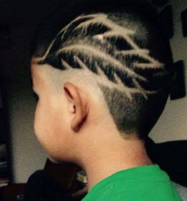 Designs on shaved head
