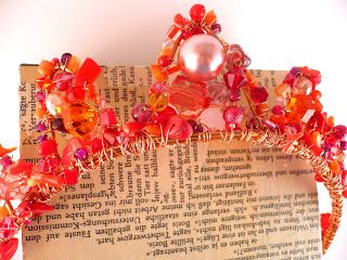 Fancy Beaded Lava Princess Crown