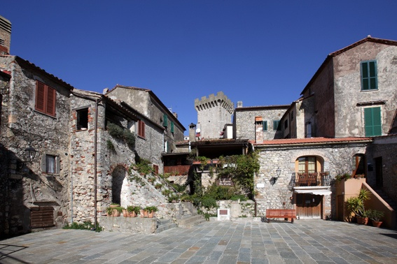 A taste of Middle Age inside the walls of Capalbio in Silver Coast, Maremma, Tuscany, Italy
