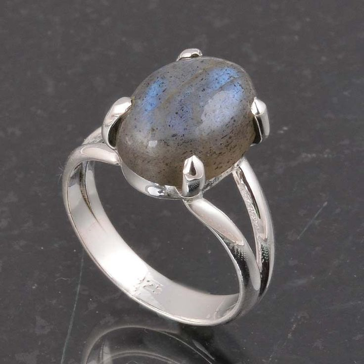 BLUE FIRE LABRADORITE 925 SOLID STERLING SILVER FASHION RING 4.20g DJR6387 #Handmade #Ring