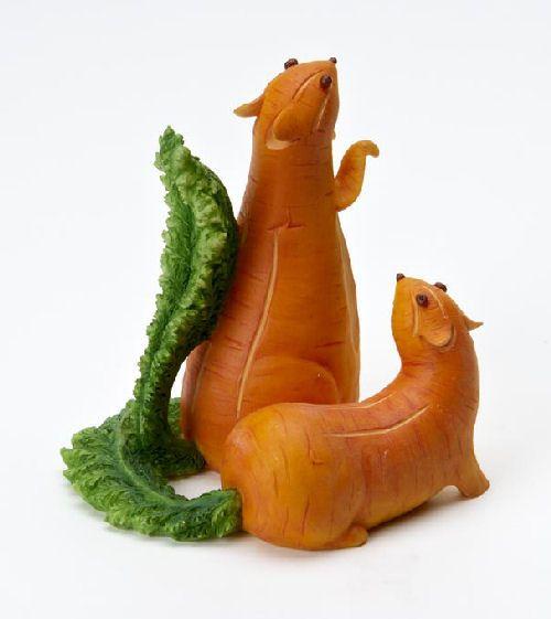 Home Grown Veggie Animal Figurine - Carrot Chipmunks