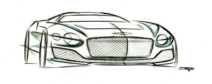Bentley EXP 10 Speed 6 Concept key sketch