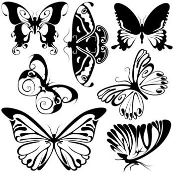 Tribal Butterfly Tattoo style