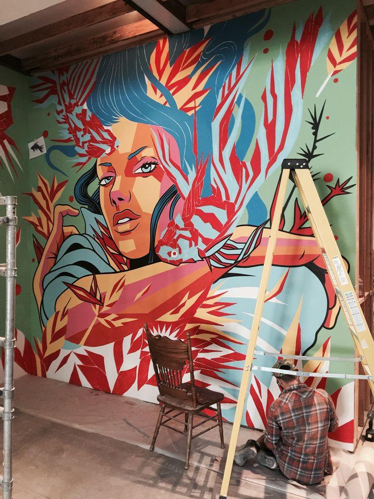 New Mural by Bicicleta Sem Freio in San Francisco