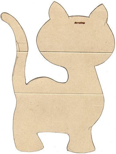 Kitty Kat base shape for a magazine silhouette. (Look for bear magazine silhouette instructions)