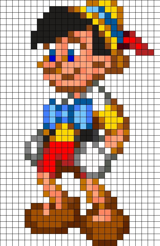 Pinocchio Disney Perler Bead Pattern