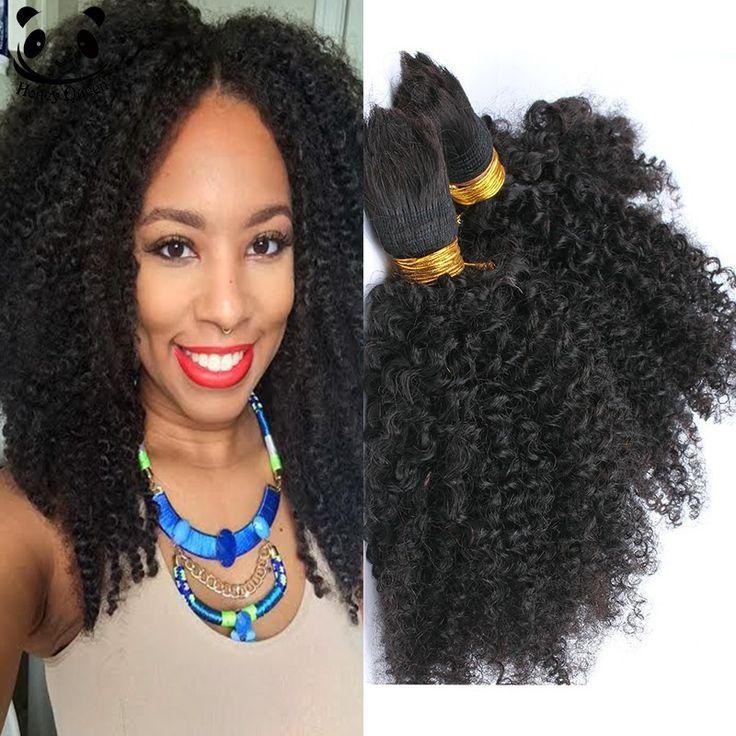 Menselijk Vlechten Haar Bulk Geen Inslag Afro Kinky Bulk Haar voor Vlechten Mongoolse Afro Kinky Krullend Gehaakte Vlechten Micro Vlechten haar