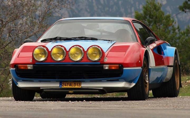 ra Ferrari 308 GTB Rally Gruppo 4, roba da anni '80.