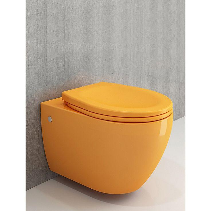 Hangtoilet Bocchi JF Licht Oranje