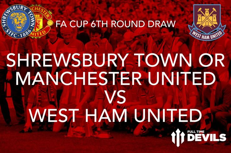 (73) News about #FACup on Twitter: #FACup draws #MUFC or Shrewsbury vs #WHUFC  Home draw (hopefully!)