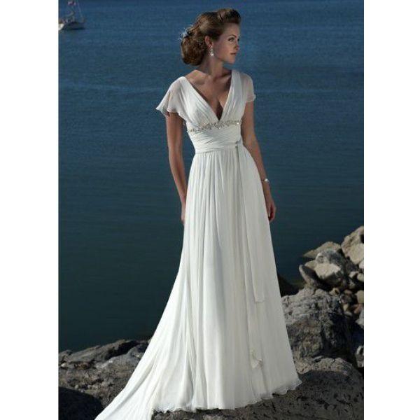 Chiffon: Wedding Dressses, Idea, Style, Chiffon Wedding Dresses, Gowns, Beach Weddings, Cap Sleeve, Beach Wedding Dresses, Beaches Wedding Dresses