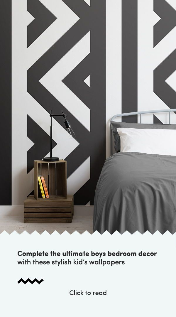 The Mina Zigzag Black And White Wall Mural Adds A Slick Geometric Edge To Your Adding Depth Height Room Of Any Size
