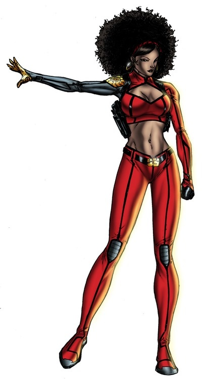 Misty Knight-she better end up in a Marvel Movie soon, she knows all the casts of The Xmen and The Avengers, and i believe she calls Stom a friend. Besides whic she's a MAJOR badass.