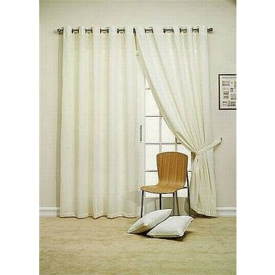 Denver Ready Made Voile Curtains Cream    - Fully Lined  - Eyelet Heading  - Tiebacks included  - Great Value For Money