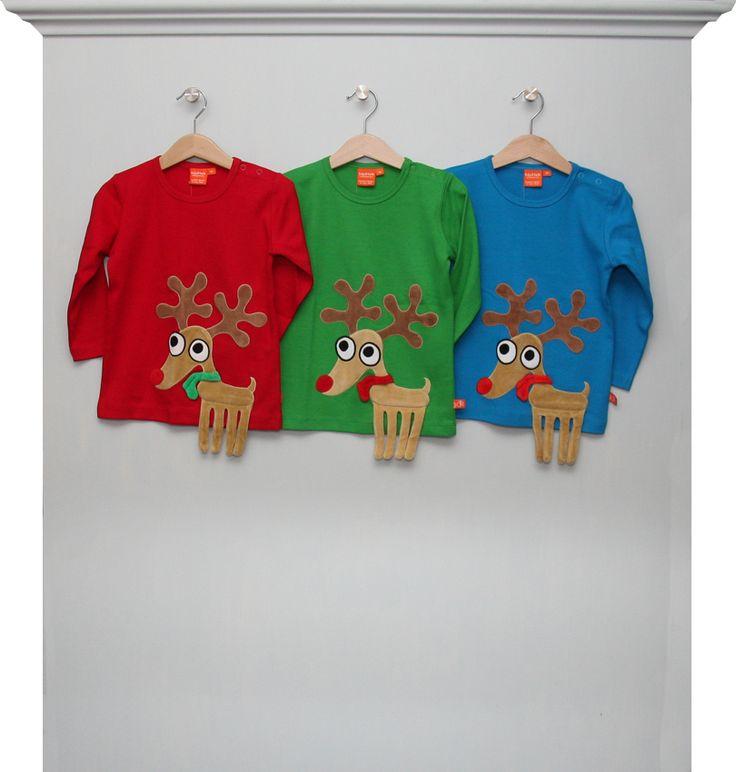 wunderschöne, weihnachtliche Rentier-Shirts im Set für Drillinge, Geschwister oder Cousins/Cousinen