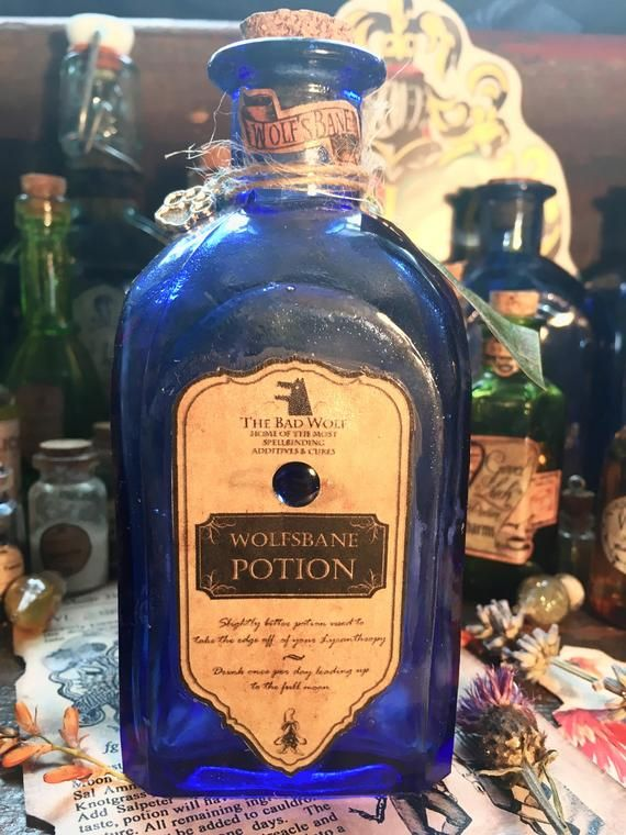 Harry Potter Wolfsbane One Off Potion Replica Harry Potter Gift