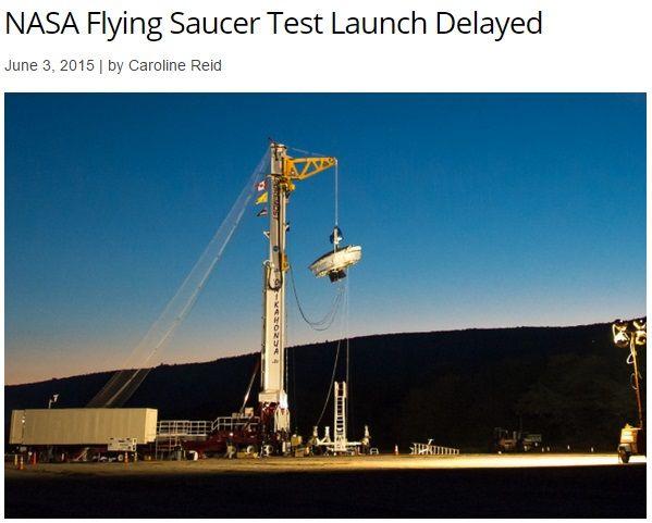 NASA開発の火星向け「空飛ぶ円盤」、テスト飛行また延期。 | Techinsight|海外セレブ、国内エンタメのオンリーワンをお届けするニュースサイト