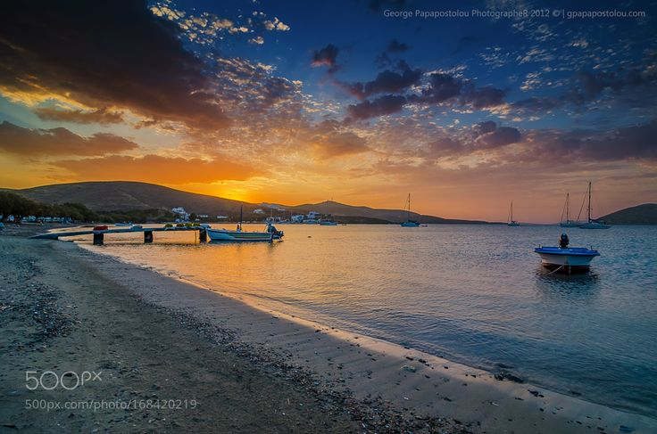 """Sunrise in Maltezana beach Go to http://iBoatCity.com and use code PINTEREST for free shipping on your first order! (Lower 48 USA Only). Sign up for our email newsletter to get your free guide: """"Boat Buyer's Guide for Beginners."""""""