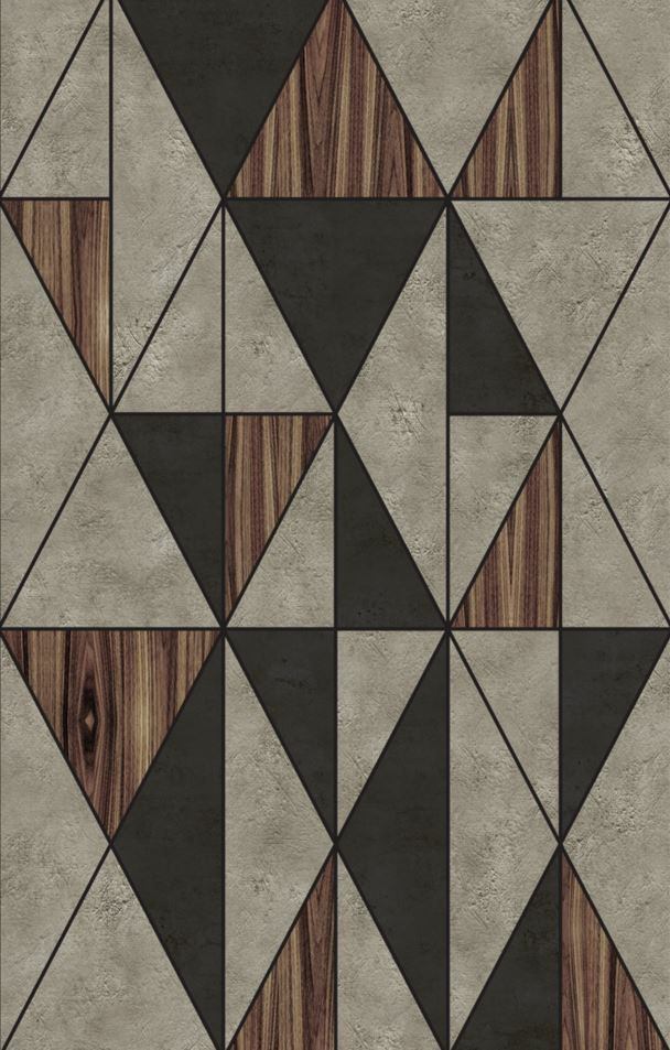 DIECUT Geometric outdoor wallpaper by wallanddeco