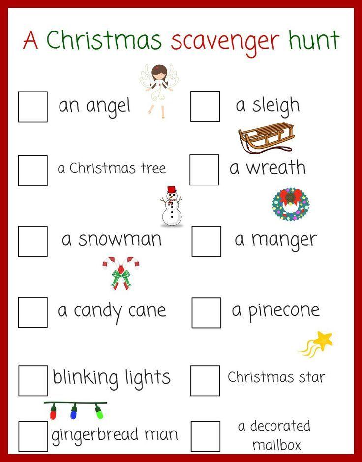 A fun Christmas scavenger hunt for kids!