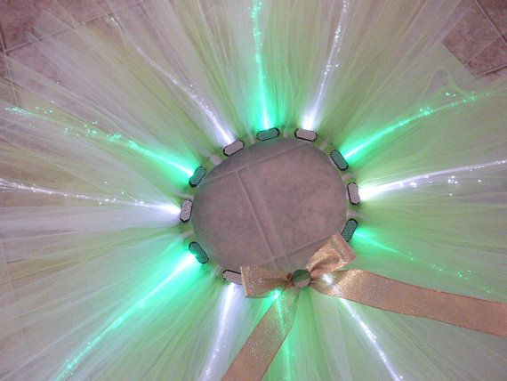 Tinkerbell costume Glow Run Light up Rave tutu by AandEcustomTUTUS, $37.00 Disneyland dress Running tutu Glow tutu fiber optic lights Sparkle tutu Plus Size
