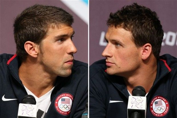 Michael Phelps and Ryan Lochte - London 2012 Olympics: US swimmers Michael Phelps and Ryan Lochte go head to head in first heavywright battle of the Games