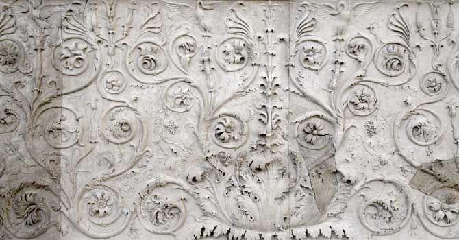 Registro inferiore / Esterno - Museo dell'Ara Pacis