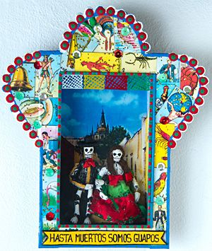 Day of the Dead shadow box.