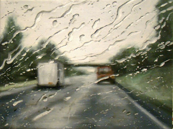 Best My Favourite Today S Painters Images On Pinterest - Astonishing photorealistic paintings of places seen through wet car windshields