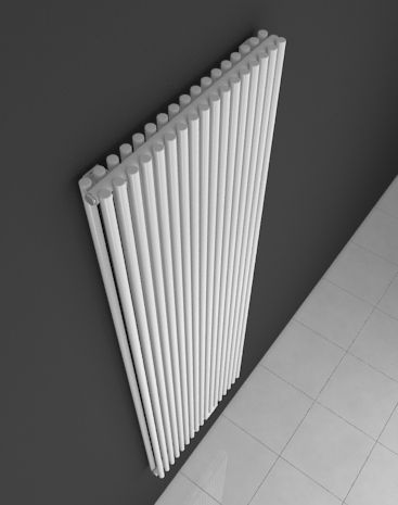 A stylishly perfect HOTHOT radiator which is ideal for architecturally unusual spaces. Two lines of vertical tubes with a high heating output. This elegant radiator with central connection will look admirable in both new and renovated buildings.