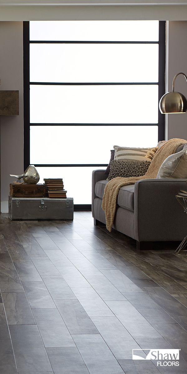 Easy style resilient flooring combines the warmth of wood with the elegance of stone picture